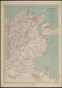 Carte routière de la Tunisie au 1er juillet 1905
