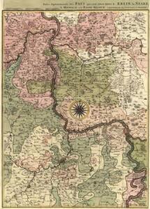 Partie Septentrionalo Des Pays qui sont Situéz Entre le Rhein la Saare, la Moselle, et la Basse Alsace
