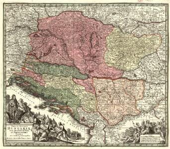 Nova et Accurata Hungariae cum Adiacentib. Regn. et Principatibus Tabula aeri incisa et venum exposita