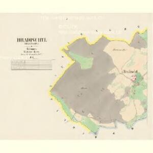 Hradischtl (Hradisste) - c2311-1-001 - Kaiserpflichtexemplar der Landkarten des stabilen Katasters