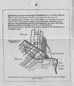 Übergang von gewannartiger Streifenflur zur echten Blockflur in den Rieden Raune u. Fuschine der Gemeinde Koschische