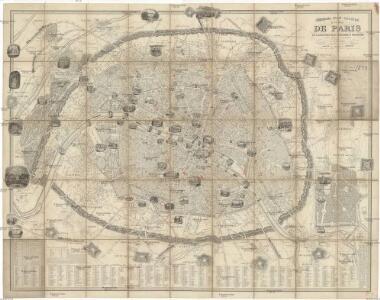 Nouveau plan illustré de la ville de Paris