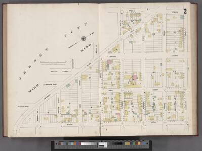 Hudson County, V. 8, Double Page Plate No. 2 [Map bounded by Summit Ave., Courtland St., Spring St., Paterson Plank Rd.] / surveyed and published by Chas. B. Brush. Vol. 8.