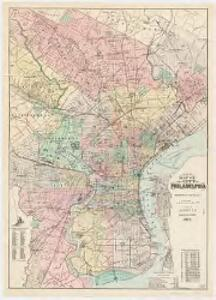 New map of the city of Philadelphia : from the latest city surveys : prepared for Gopsill's directories 1893