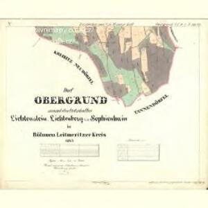 Obergrund - c2122-2-005 - Kaiserpflichtexemplar der Landkarten des stabilen Katasters