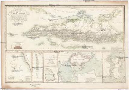 KARTE von der Insel Sumatra