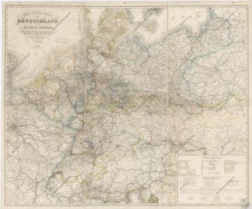 Post und Reise - Karte von Deutschland...