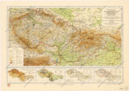 Příruční mapa Československé republiky