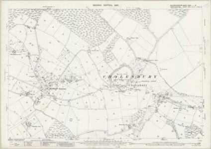 Buckinghamshire XXXIV.16 (includes: Chartridge; Cholesbury cum St Leonards; Tring Urban) - 25 Inch Map