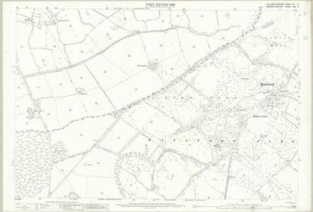 Gloucestershire XV.9 (includes: Batsford; Blockley; Bourton on the Hill) - 25 Inch Map