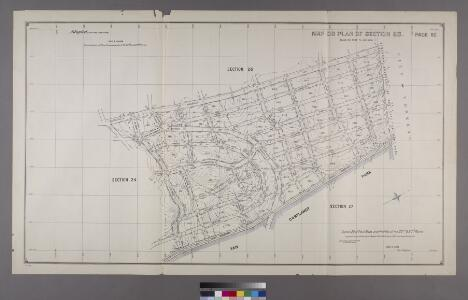 Map or Plan of Section 25. [Bounded by Riverdale Avenue, W. 262nd Street, Broadway and W. 253rd Street.]