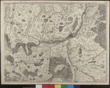 Carte Topographique Du Cours Du Rhin De Philisbourg á Mayence