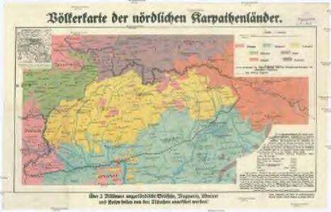 Völkerkarte der nördlichen Karpathenländer