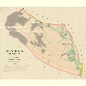 Besdieg (Bezdikow) - m0062-1-001 - Kaiserpflichtexemplar der Landkarten des stabilen Katasters