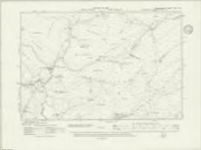 Denbighshire XVIII.SW - OS Six-Inch Map