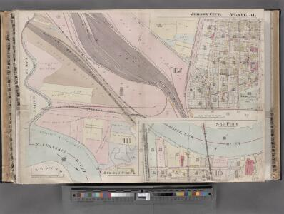 Jersey City, V. 1, Double Page Plate No. 31 [Map bounded by Thorne St., Hudson Blvd., Hackensack River, Pen Horn Creek] / compiled under the direction of and published by G.M. Hopkins Co.