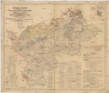 Spezial Karte für Verkehr, landwirtschaftliche, Montan u. gewerbliche Industrie des Bezirkes der Handels und Gewerbekammer Eger