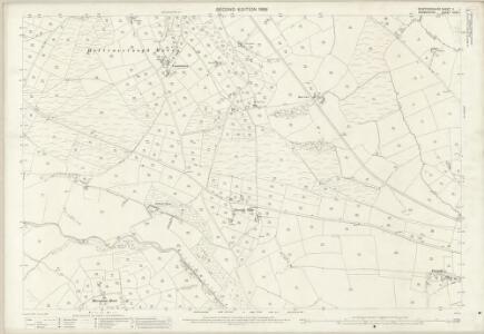 Staffordshire V.1 (includes: Hartington Middle Quarter; Heathylee; Hollinsclough; Longnor) - 25 Inch Map