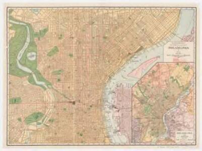 Rand McNally new commercial atlas map of Philadelphia