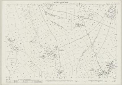 Cornwall XXIII.10 (includes: Stoke Climsland) - 25 Inch Map