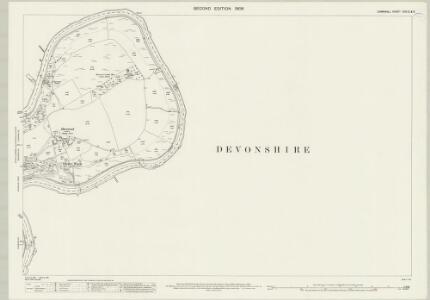 Cornwall XXX.10 & 6 (includes: Bere Ferrers; Calstock; Tavistock Hamlets; Whitchurch) - 25 Inch Map