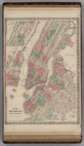 New York City, Brooklyn, Jersey City, Hoboken.