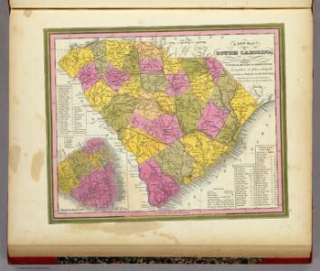 New Map Of South Carolina.