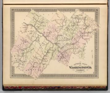Outline plan of Washington Co., Vermont.
