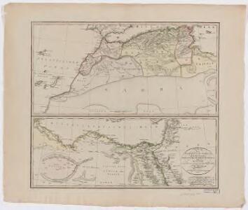 Charte der Nordküste Africas, oder die staaten Maroccos, Fes, Algier, Tunis, Tripoli, und Aegypten : nach den neuesten und besten Hülfsmitteln