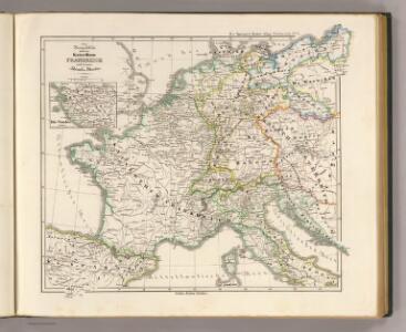 Die Republik und das Kaiserthum Frankreich mit seinen Bundes-Staaten.