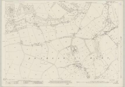 Wiltshire LXIX.13 (includes: Donhead St Mary) - 25 Inch Map