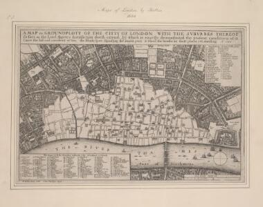A MAP or GROVNDPLOT OF THE CITTY OF LONDON, WITH THE SVBVRBES THEREOF