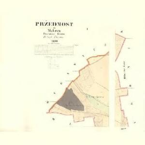 Pržedmost - m2449-1-001 - Kaiserpflichtexemplar der Landkarten des stabilen Katasters