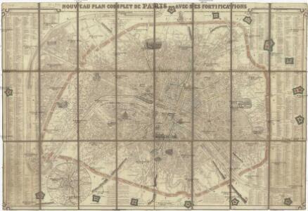 Nouveau plan complet de Paris avec ses fortifications