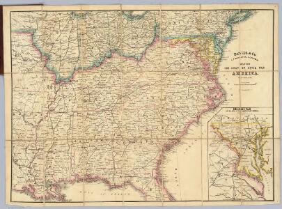 Map Of The Seat Of Civil War In America.