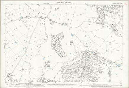 Cheshire XLVII.16 (includes: Beeston; Peckforton; Tattenhall) - 25 Inch Map