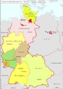 Länder der Bundesrepublik 1957