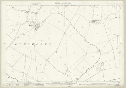 Buckinghamshire XXIII.14 (includes: Oving; Pitchcott; Whitchurch) - 25 Inch Map
