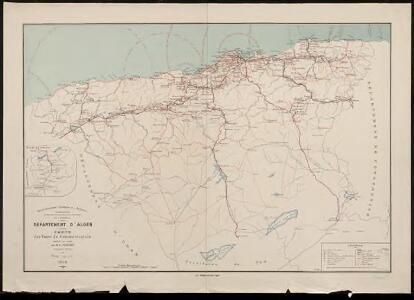 Département d'Alger. Carte des voies de communication