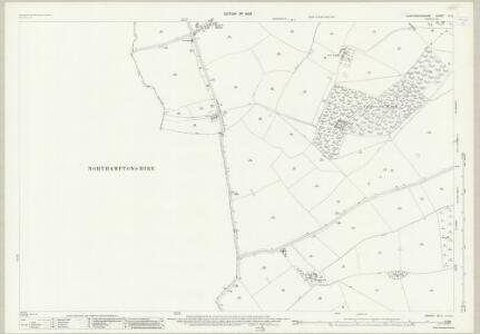 Huntingdonshire IX.5 (includes: Denton and Caldecote; Folksworth and Washingley; Glatton; Lutton) - 25 Inch Map