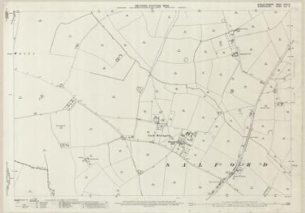 Worcestershire XXXV.12 (includes: Abbots Morton; Church Lench; Salford Priors) - 25 Inch Map