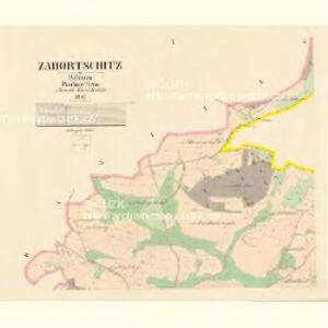 Zahortschitz - c9044-1-001 - Kaiserpflichtexemplar der Landkarten des stabilen Katasters