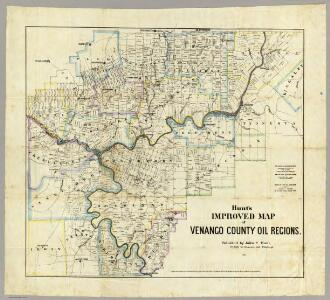 Map of Venango County Oil Regions.