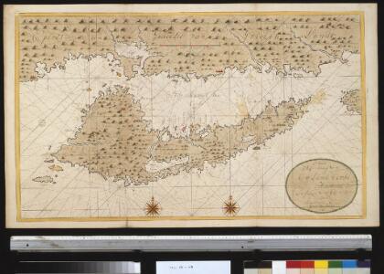 Nieuwe afteekening van 't eijland Corfu geleegen in de Middelantsche Zee in t incoomen van de Golf van Venetia