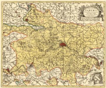 Comitatus Namurci Emendata Delineatio