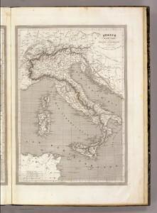 Italie, Suisse Tyrol et Provinces Autrichiennes Sur l'Adriatique.