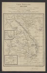 Carte populaire : Indo-Chine : Cambodge - Cochinchine - Annam - Tonkin