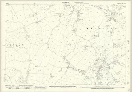 Anglesey XV.5 (includes: Llangoed; Llaniestyn Rural; Llaniestyn Urban) - 25 Inch Map
