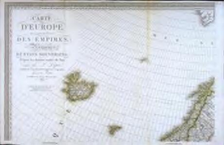 Carte d'Europe ou sont tracées les limites des empires, royaumes, et etats souverains, feuille 1