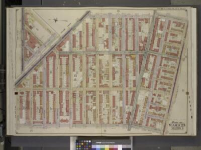 Brooklyn, Vol. 2, Double Page Plate No. 19; Part of   Ward 25, Section 6; [Map bounded by Broadway, Stone Ave., Fulton St., Eastern    Parkway; Including  Atlantic Ave., Saratoga Ave., Macon St., Hopkinson Ave.];    Sub Plan; [Map bounded by Broadway,